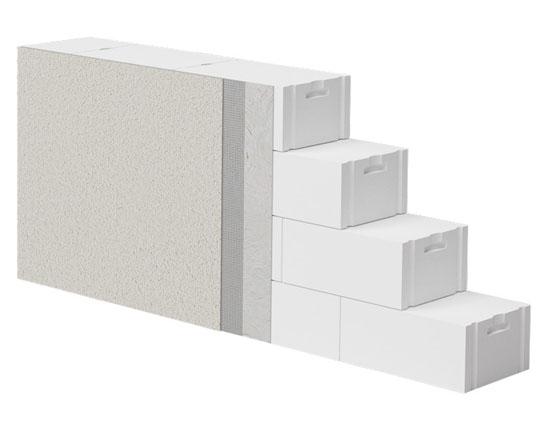 ściana jednowarstwowa z betonu komórkowego