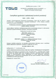 Certyfikat ZKP Tarnów - Plyty zbrojone z betonu komorkowego - polski