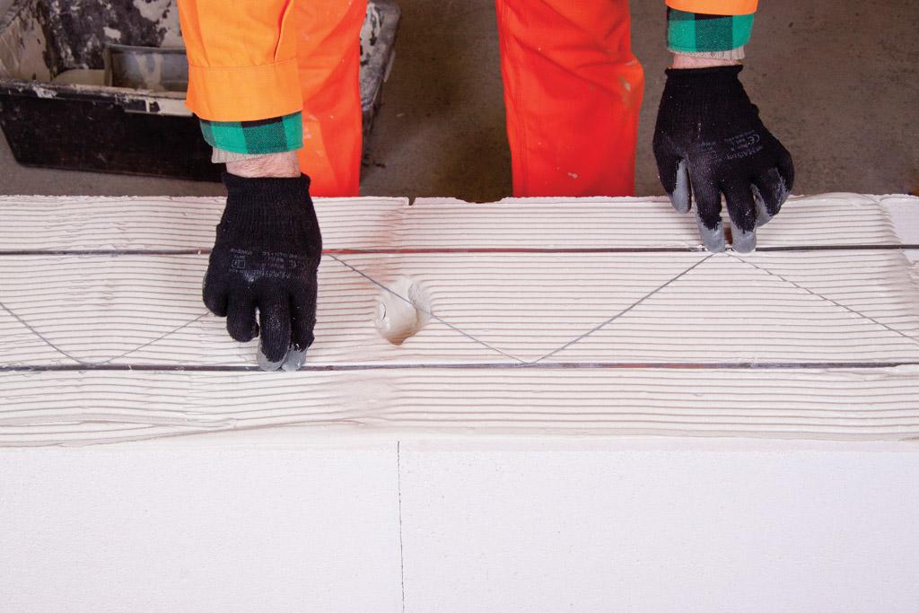 zbrojenie bloczków z betonu komórkowego termalica