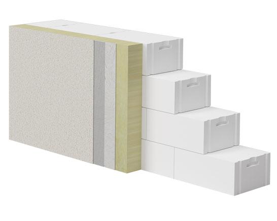 ściana wielowarstwowa z betonu komórkowego