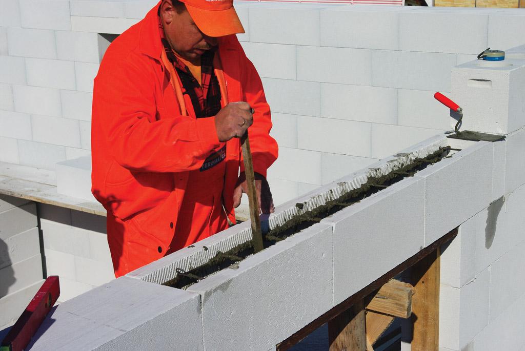 budowa z belek nadprożowych termalica