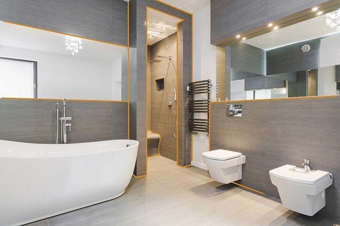 łazienka z płytkami temalica