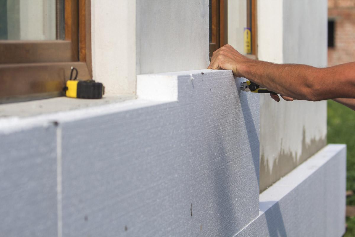 styropian + beton komórkowy