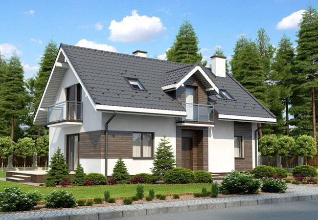 projekt domu bianco